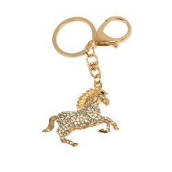 Keyring horse with diamonds