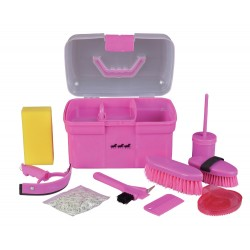 Three Horses Grooming Box with brushes