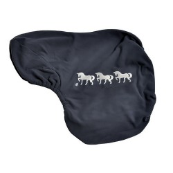 Three Horses Fleece Saddle Cover